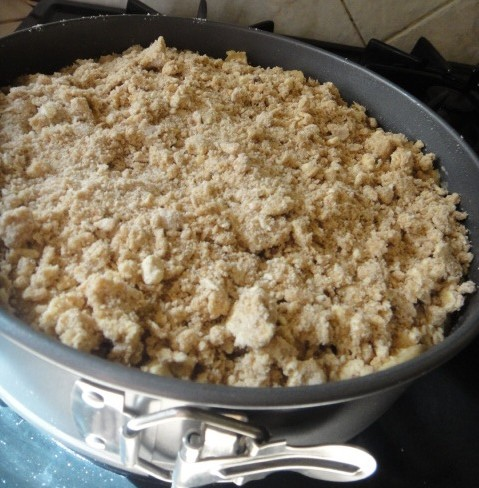 Crumble on top