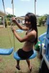 Peyton on a swing