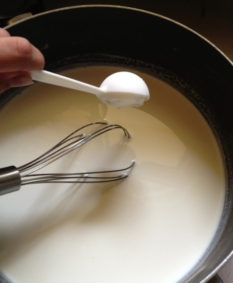 Add four tablespoons of plain yogurt.  Make sure it's the kind with active cultures